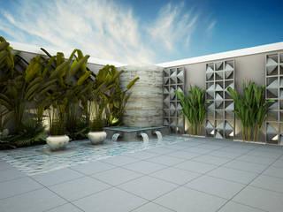Jardim l A+D Treez Arquitetura+Engenharia Lagos e Lagoas de jardins Derivados de madeira Multi colorido