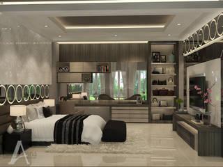 Master Bedroom: Kamar Tidur oleh AIRE INTERIOR , Modern