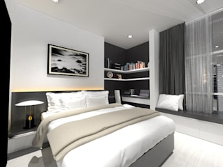 Chambre minimaliste par Asera.Atelier Minimaliste