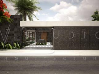 Fachada: Casas unifamiliares de estilo  por [V. Studio] Arquitectura
