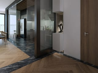 Modern Corridor, Hallway and Staircase by deline architecture consultancy & construction Modern