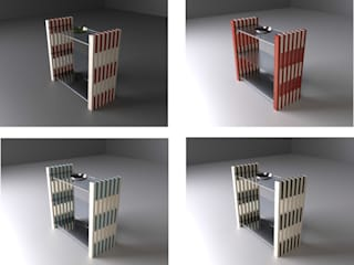 MY REGAL Architekturbüro Michael Bidner WohnzimmerRegale Holz Mehrfarbig