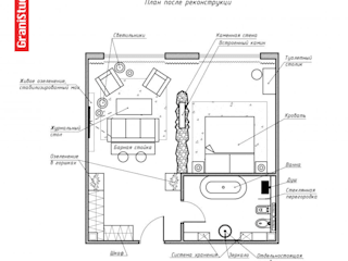 Планировка: Гостиницы в . Автор – Настасья Евглевская