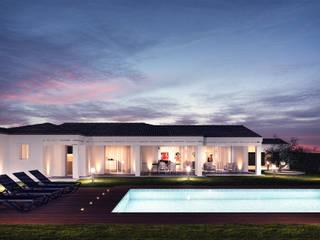 01_Villa Arzachena: Villa in stile  di Pitzus Group Costruzioni S.r.l.