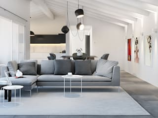 Living room by Pitzus Group Costruzioni S.r.l.