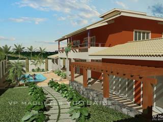 Casas campestres de estilo  por VParques Arquitetura e Serviços