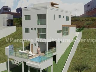 Casas unifamiliares de estilo  por VParques Arquitetura e Serviços