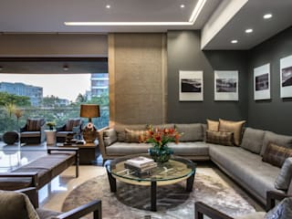 Living room by Rakeshh Jeswaani Interior Architects