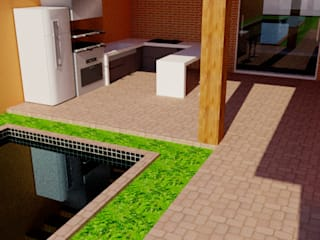 Casa - 70 m² : Casas familiares  por FT Engenharia e Arquitetura,Tropical