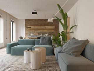 Minimalist living room by Студия Семена Вишнякова '1618 ROOM' Minimalist
