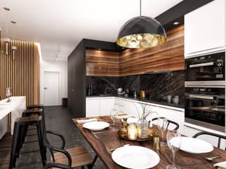 Interior 1701 Кухня в стиле модерн от HEADS Group. Архитектурное бюро Арсена Хаирова и Владислава Куликовского. Модерн