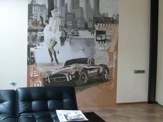 Роспись стен в интерьере: Рабочие кабинеты в . Автор – Art Universal Group,