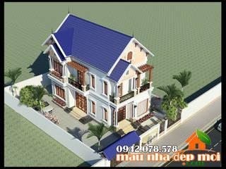Biệt thự 2 tầng mặt tiền 8.5m kiến trúc hiện đại Á Đông Công ty TNHH TKXD Nhà Đẹp Mới Biệt thự