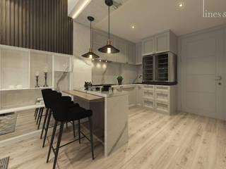 Cocinas rústicas de Lines & Lumber Rústico