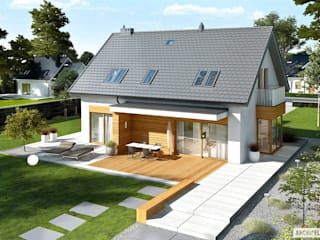 Nils G2 - nowoczesny dom dla każdego Nowoczesne domy od Pracownia Projektowa ARCHIPELAG Nowoczesny