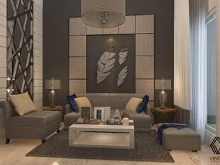 Project - Rumah Tinggal Kediri Family Residence Vinch Interior Ruang Keluarga Modern Grey