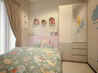 Project - Rumah Tinggal Babatan Pratama Vinch Interior Kamar tidur anak perempuan Kayu Multicolored