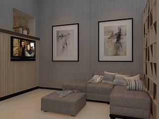 Project - Rumah Tinggal Babatan Pratama Vinch Interior Ruang Keluarga Modern Grey