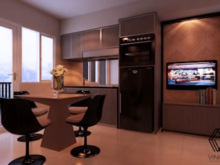 Project - Educity Apartment 3 Bedroom Ruang Keluarga Modern Oleh Vinch Interior Modern