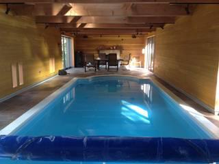 静岡県 個人T邸  (8.0m×3.5m レクタングル形状): プールカンパニー 株式会社プロスパーデザイン プール事業部が手掛けたビーチハウス・クルーザーです。,モダン