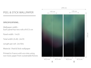 AURORA BOREALIS – Dark Wall Mural:   by Estampe and Co
