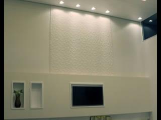 casulo arquitetura design Sala de estarTV e mobiliário