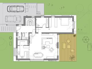 Neubau Wohnhaus Aschaffenburg:   von Resonator Coop Architektur + Design,
