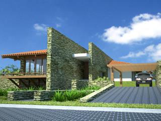 Casas de estilo ecléctico de VERRONI arquitetos associados Ecléctico