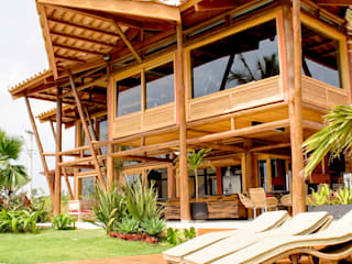 Rustikale Häuser von VERRONI arquitetos associados Rustikal