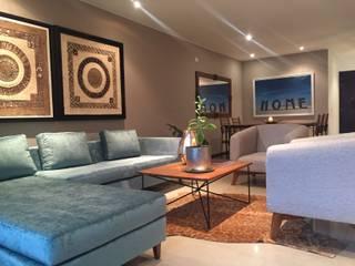 Apartamento en el Oeste de Cali: Salas de estilo  por Obras Son Amores,
