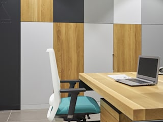 Industrial style study/office by gama estudio Industrial