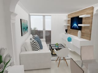 Scandinavian style media room by Naromi Design Scandinavian