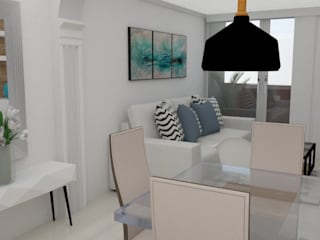 Scandinavian style dining room by Naromi Design Scandinavian