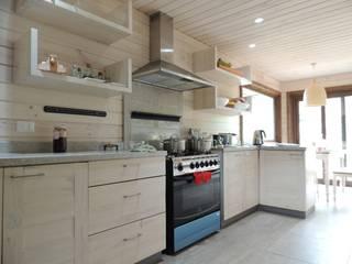 Cocinas de estilo rústico de David y Letelier Estudio de Arquitectura Ltda. Rústico