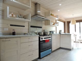 Cuisine rustique par David y Letelier Estudio de Arquitectura Ltda. Rustique