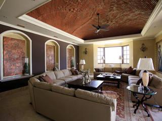 Living room by DHI Arquitectos y Constructores de la Riviera Maya, Mediterranean