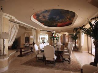 Dining room by DHI Arquitectos y Constructores de la Riviera Maya, Eclectic