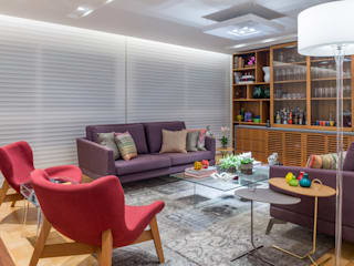 Design e Bossa Salas de estar modernas por studio TWB arquitetura Moderno