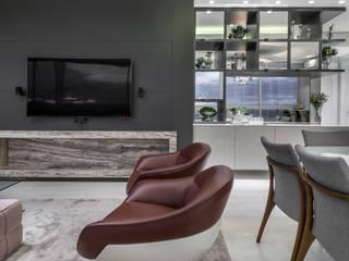 Essência Moderna: Salas de estar  por studio TWB arquitetura