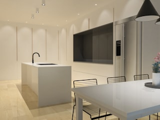 Pluit Residence Ruang Makan Minimalis Oleh KERA Design Studio Minimalis