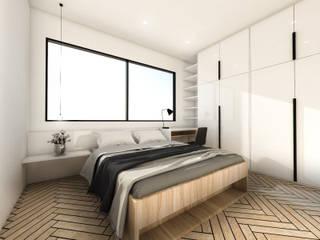 غرفة نوم تنفيذ KERA Design Studio