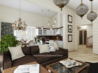 Ruang Keluarga oleh Архитектурное Бюро 'Капитель', Country