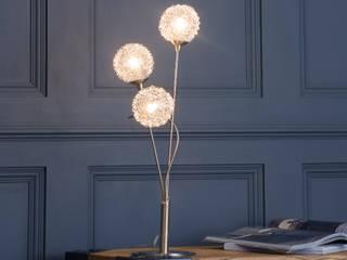 Allium 3 Light Table Lamp - Satin Nickel Litecraft Living roomLighting