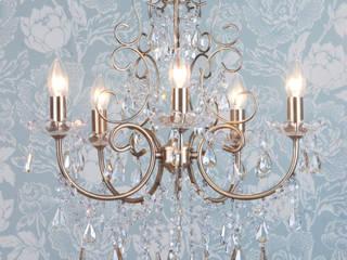Madonna Chandelier 5 Light Dual Mount Antique Brass Litecraft Living roomLighting