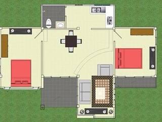 แบบบ้านพักอาศัยชั้นเดีย โดย เขียนแบบ ออกแบบ บ้าน อาคาร รายการคำนวณ