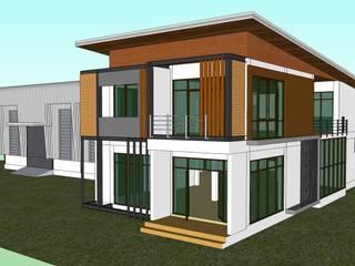 แบบโกดัง+สำนักงาน ของคุณสยาม กำลังจะก่อสร้างที่ นนทบุรี โดย เขียนแบบ ออกแบบ บ้าน อาคาร รายการคำนวณ
