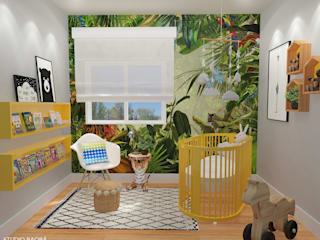 Baby Room in Den Haag: moderne Kinderkamer door Studio Baoba