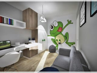 Pokój dla chłopca od Fusion- projektowanie i aranżacja wnetrz Nowoczesny