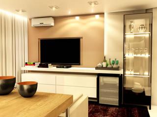Apartamento Salas de estar modernas por MQ Design Interiores Moderno
