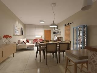 Residência F | A Salas de jantar ecléticas por monteirorachid arquitetas associadas Eclético